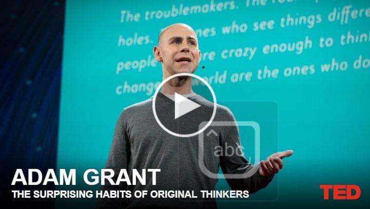 TED Os hábitos surpreendentes de pensadores originais