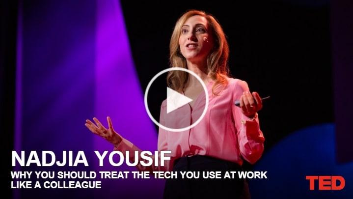 TED Por que você deve tratar a tecnologia que você usa no trabalho como colega