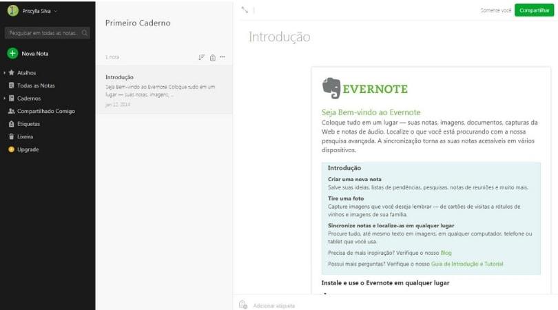 Ferramentas para organizar suas ideias - Evernote