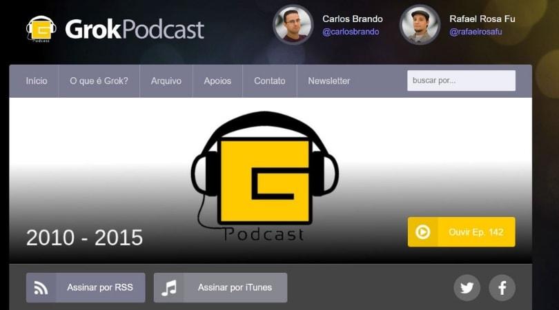 Podcast sobre inovação e tecnologia -  Grokpodcast