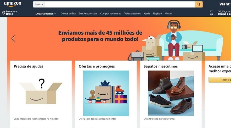 Empresas que mais investem em tecnologia e seus resultados - Amazon