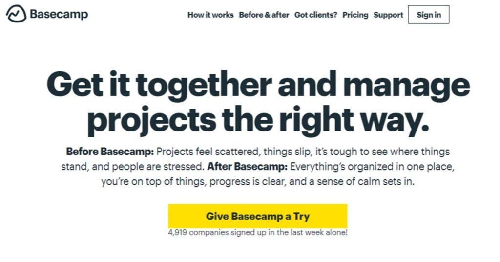 10 Empresas que Investiram no Outsourcing de Desenvolvimento de Software Basecamp