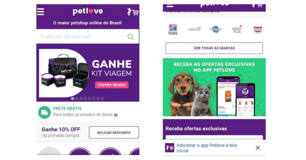 Exemplos de Progressive Web Applications PetLove-min